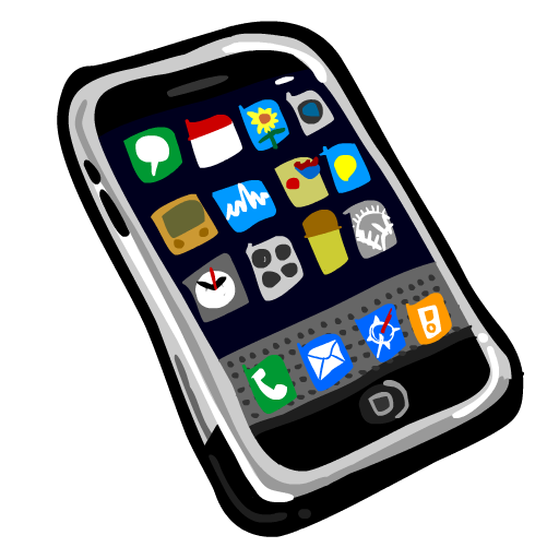 Iphone cartoon png. Collection of drawing