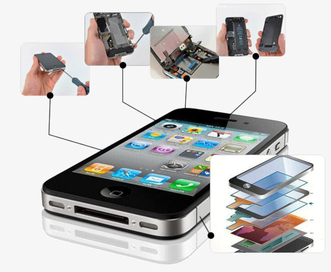 Iphone clipart iphone repair. Mobile phone material png