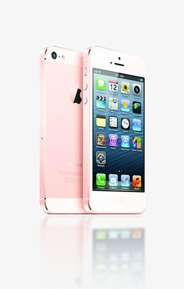 Iphone clipart pink iphone. Apple mobile phone rose