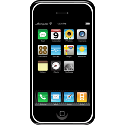 Iphone clipart smartphone. Cell phone panda free