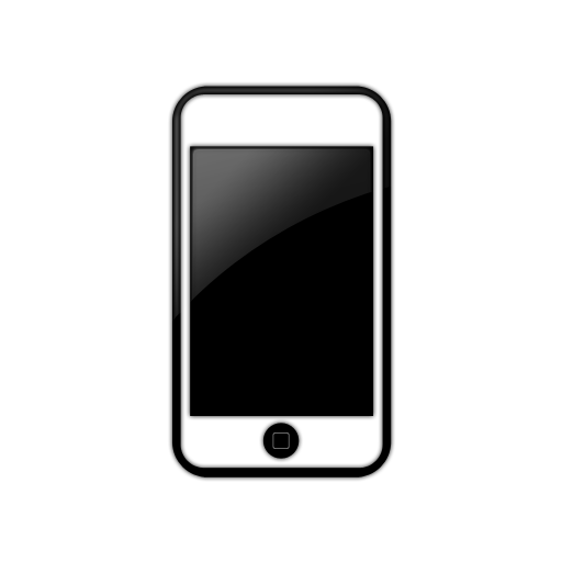 Iphone icon clipart . Cellphone transparent phoneclip art png black and white download