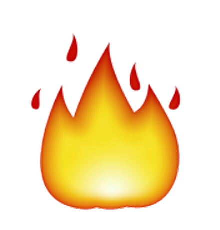 Iphone emoji png. Fire burn ios sticker