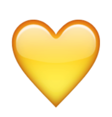 Iphone heart emoji png. Ios yellow love is