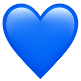 Iphone heart emoji png. Blue on apple