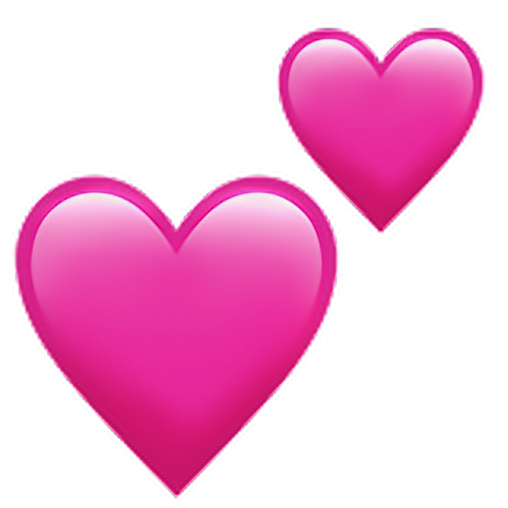 Iphone heart emoji png. Symbol love pink hearts