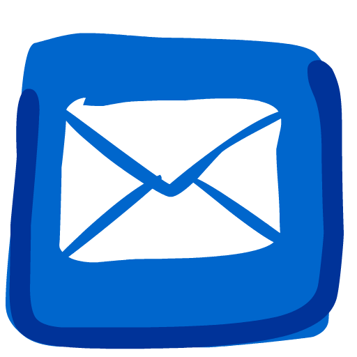 Iphone mail icon png. Painted clipart image iconbug