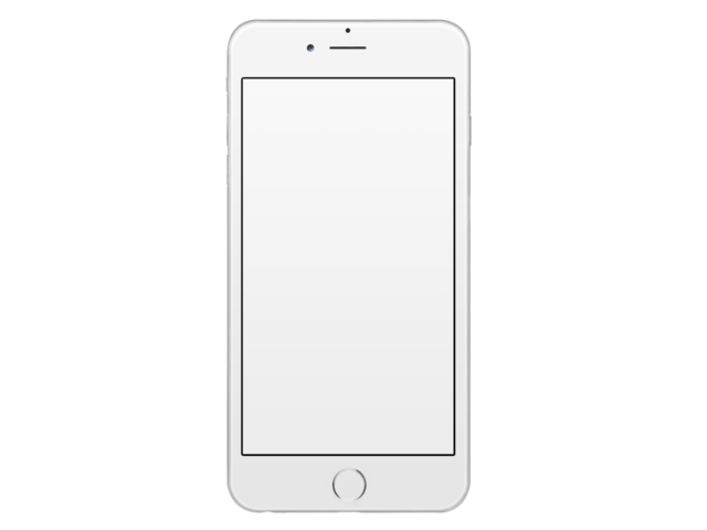 Iphone screen glare png. Placeit frontal mockup of