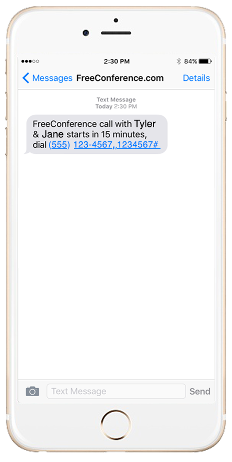 Iphone text png. Message call notifications freeconference