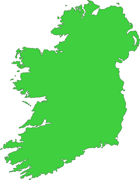 Ireland drawing map. Of clipart