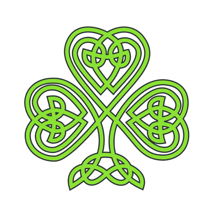 Of shamrocks and clovers. Irish clipart four leaf clover clip art library download