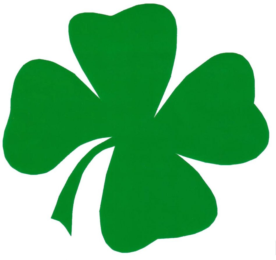 Irish clipart four leaf clover. Pictures plants tattoos to
