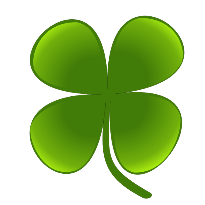Of shamrocks and clovers. Irish clipart four leaf clover picture black and white