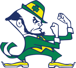 Vector clover notre dame. University of fighting irish