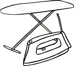 Iron clipart black and white. Board clip art at