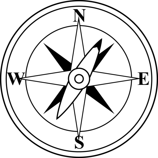 Iron clipart black and white. Compass free