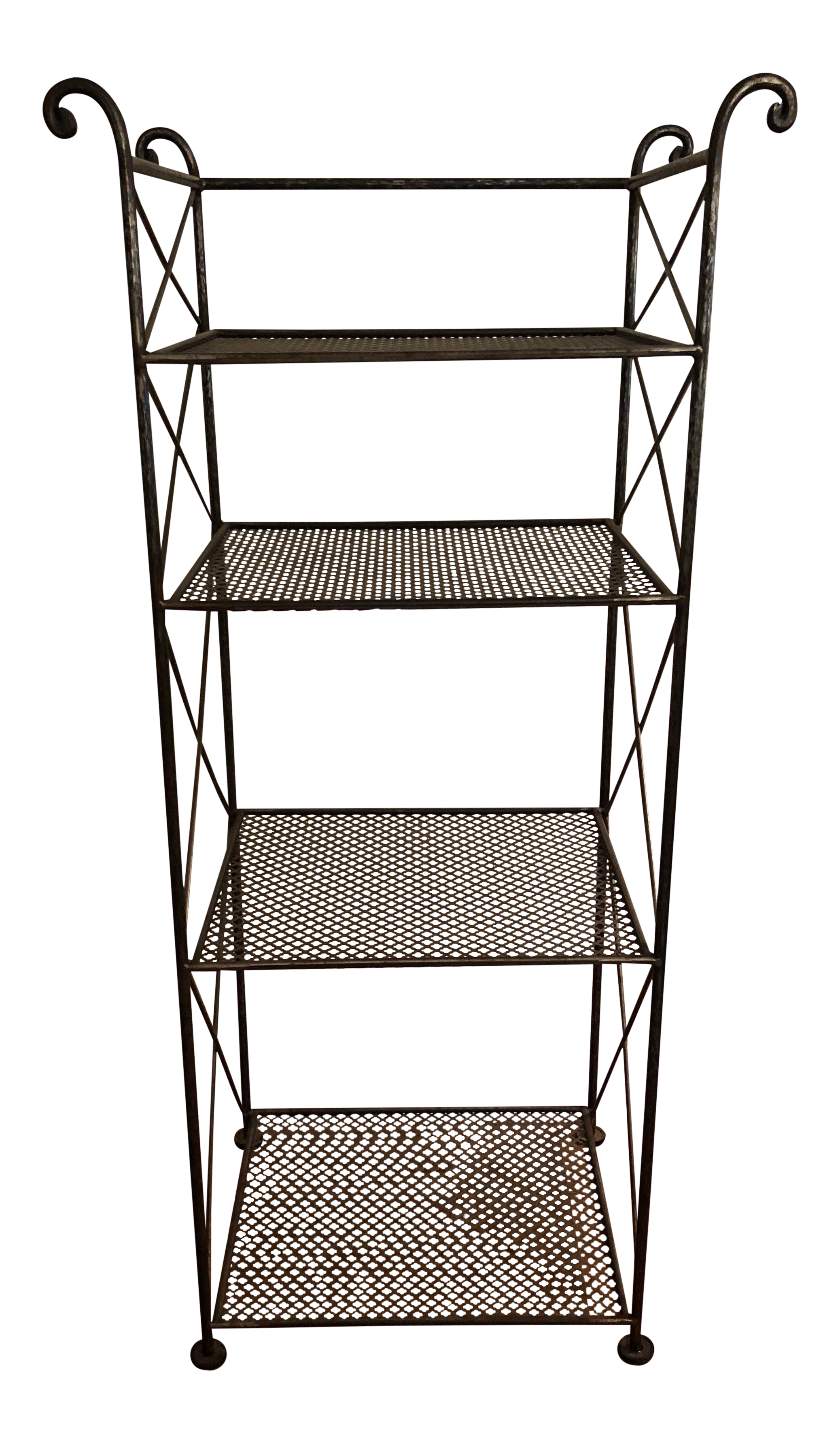 Iron clipart book rack. Tall french wrought metal