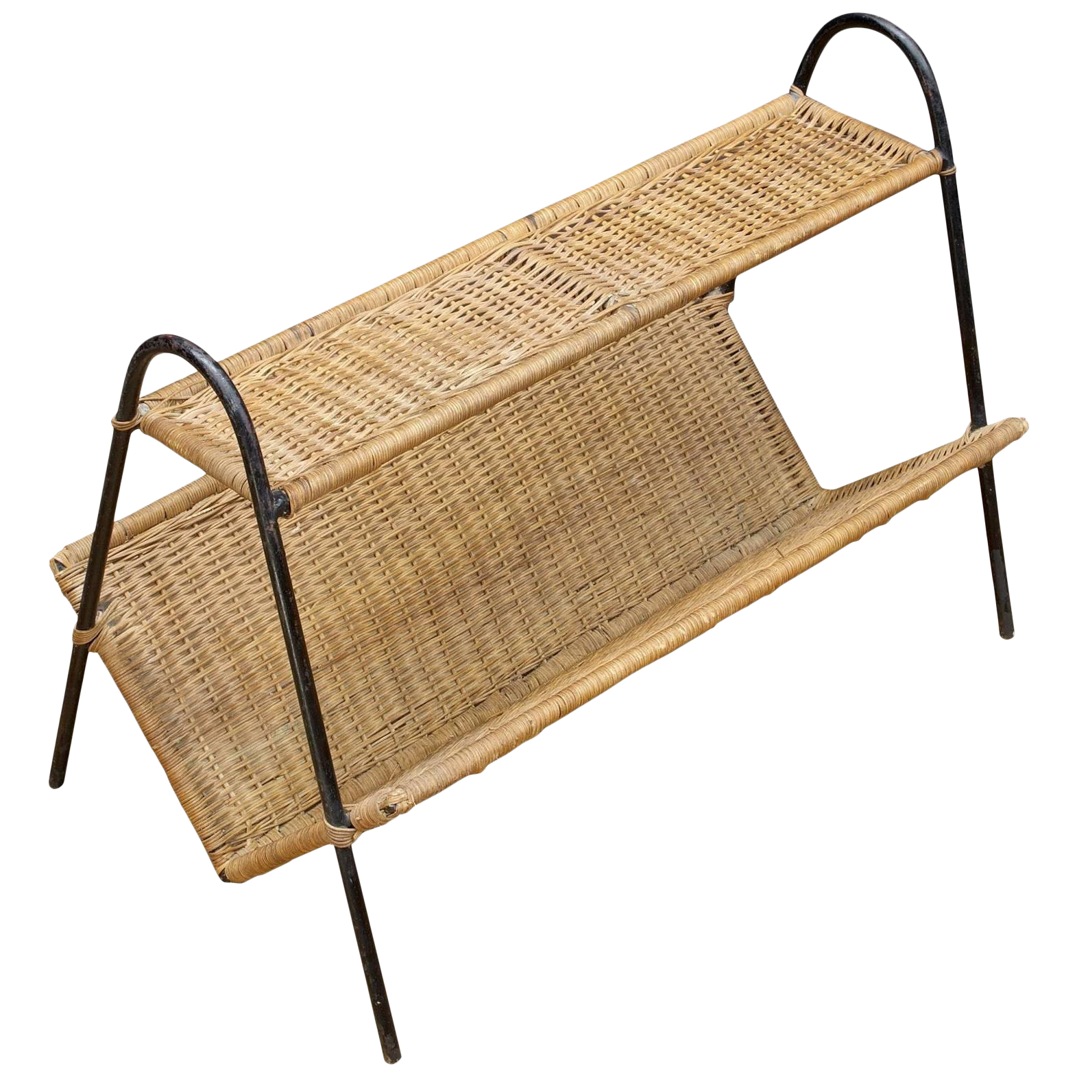 Iron clipart book rack. Rattan magazine shelf mid