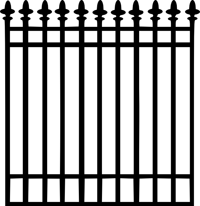 Fence svg chain. Jennm wrought iron png