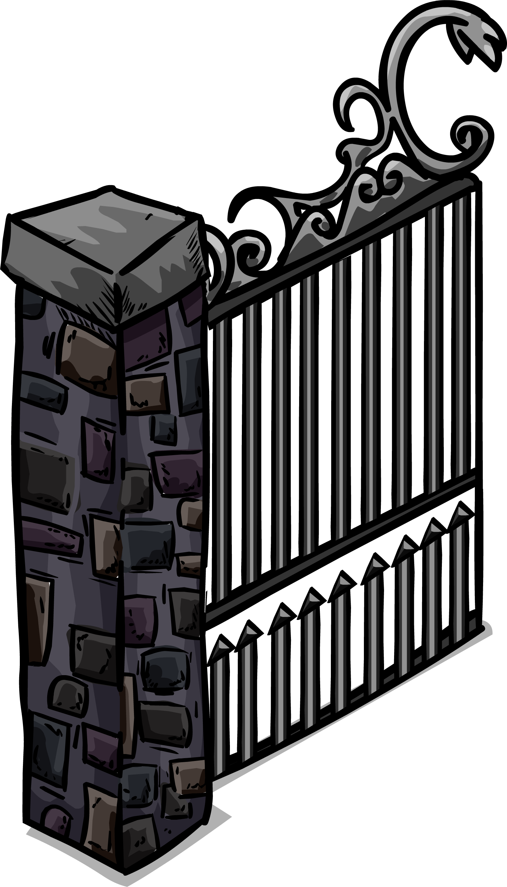 Iron gate png. Image sprite club penguin