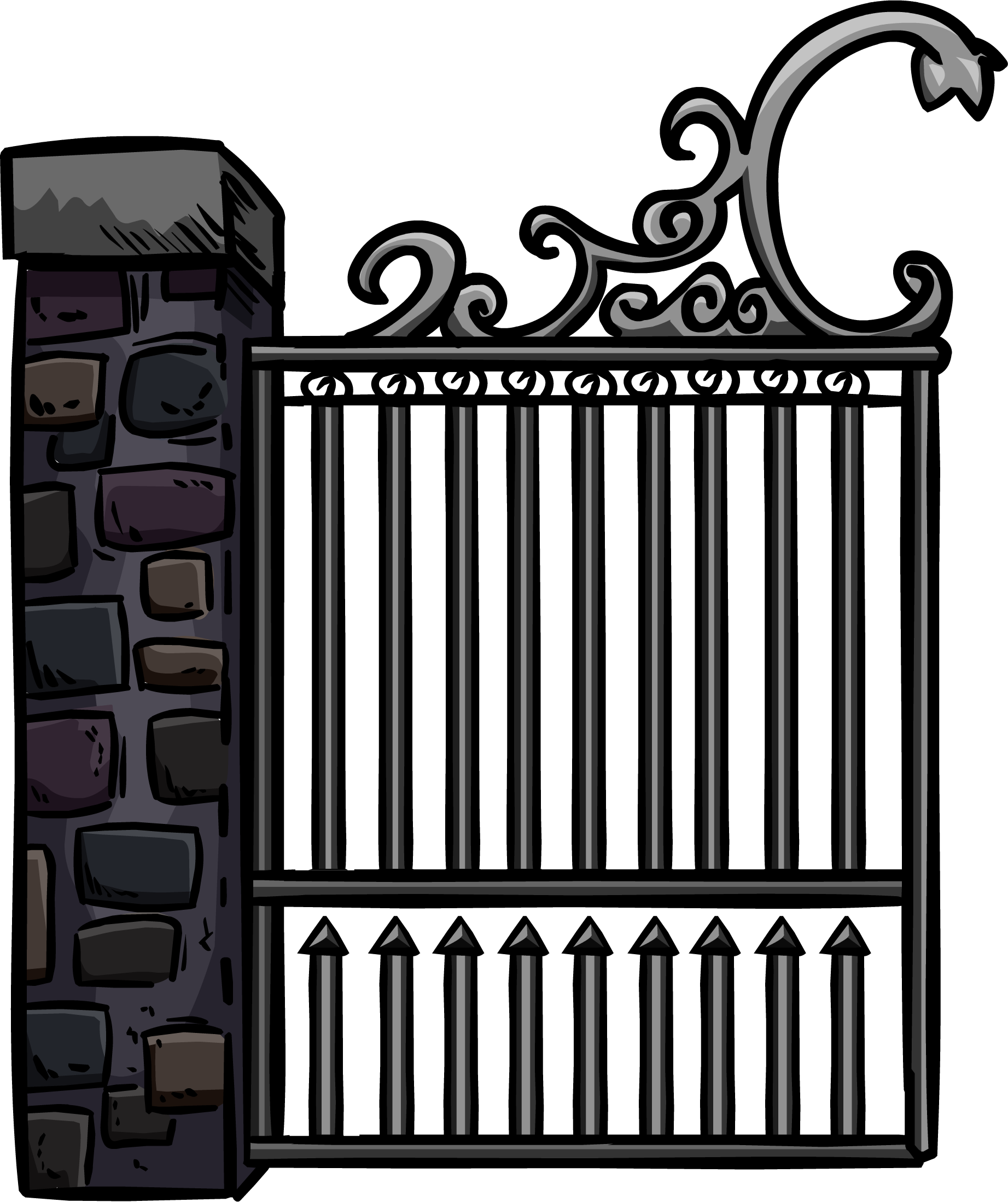 Iron gate png. Image irongate club penguin