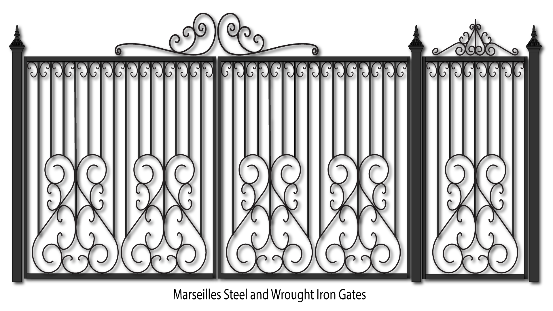 drawing steel gates