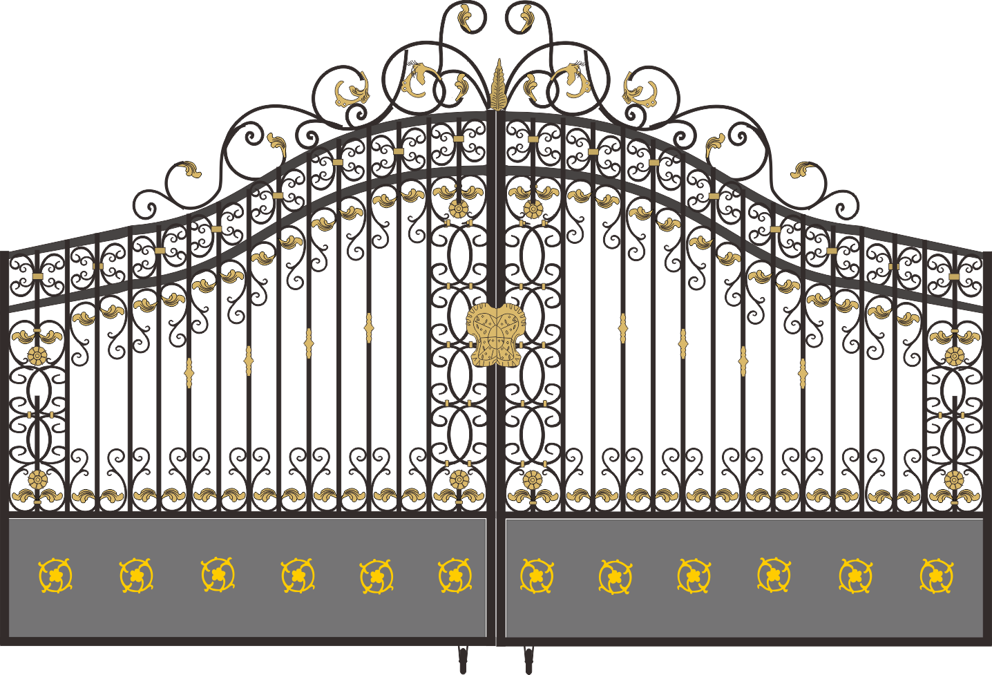 Iron gate png. Electric gates wrought door