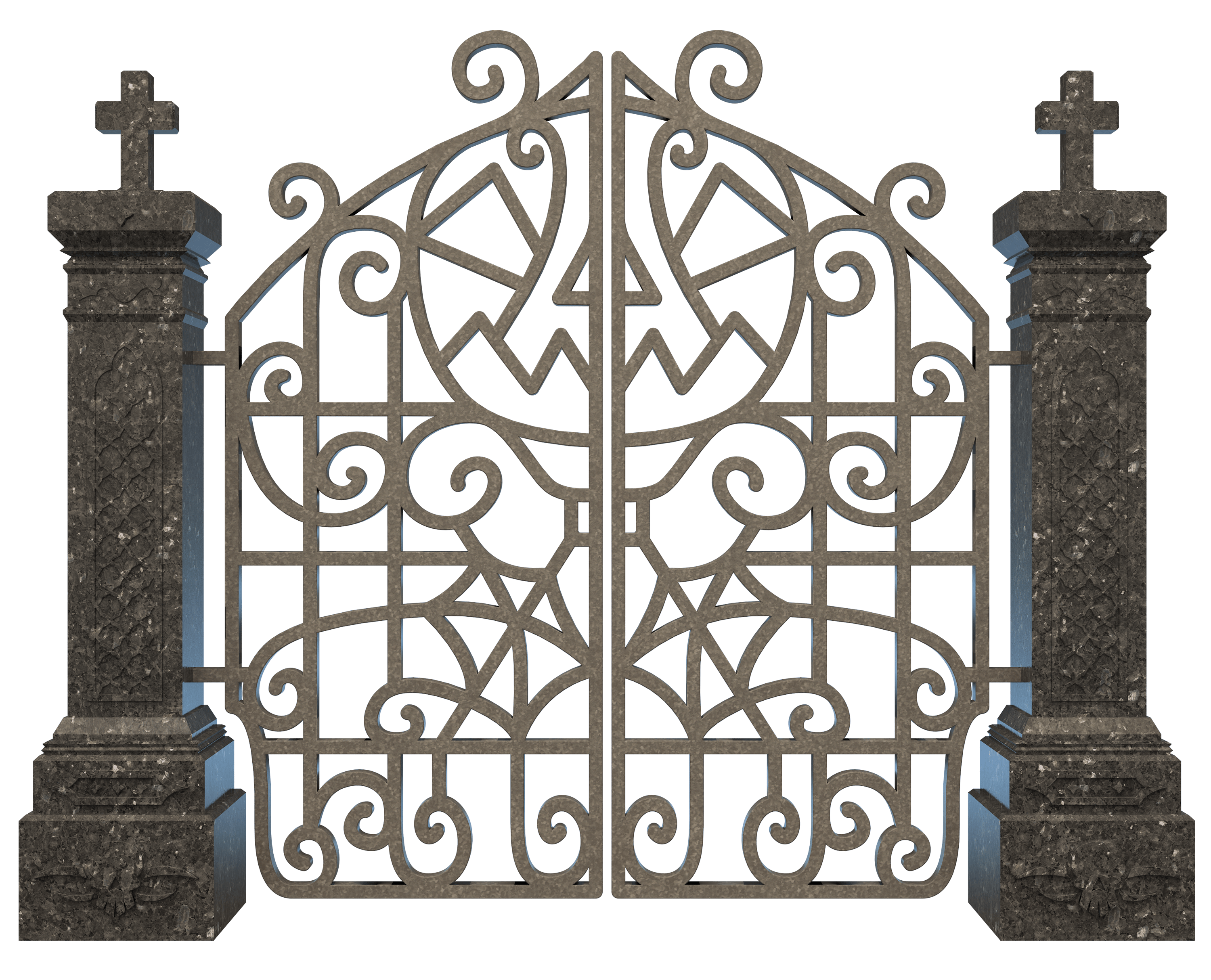 Iron gate png. Cemetery transparent stickpng graveyard