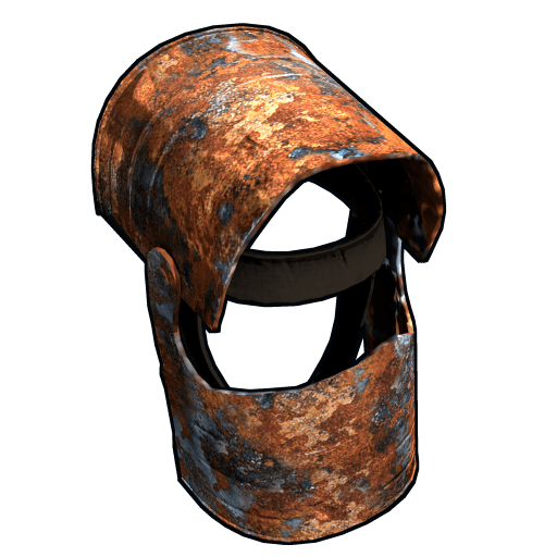 Iron helmet png. Image rusty coffee can