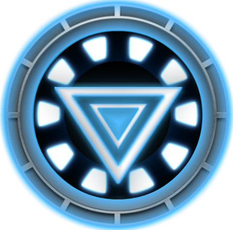 Iron man chest png. Arc reactor emblems for