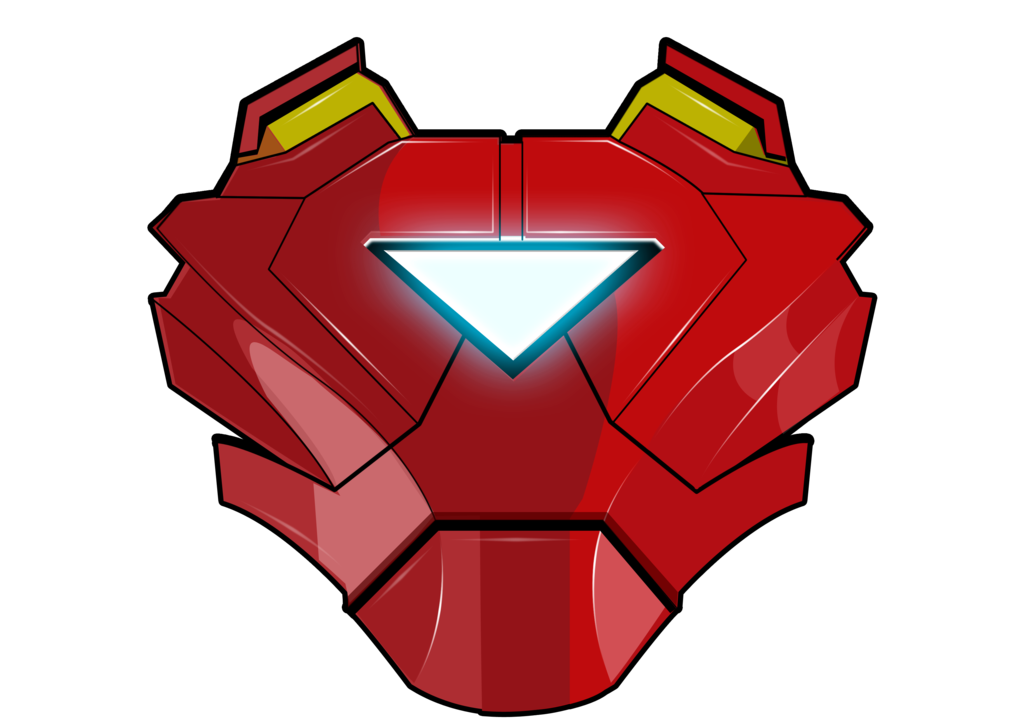 vector superhero armored