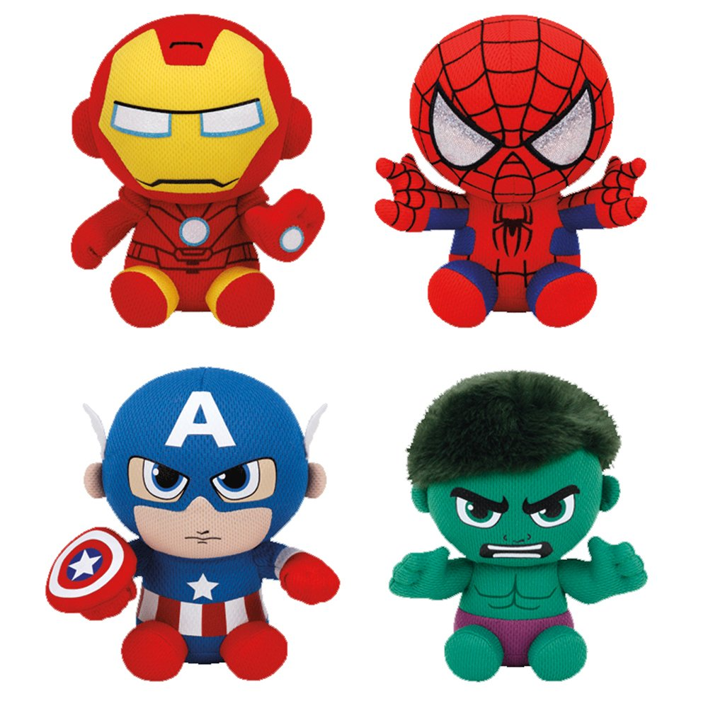 Ironman clipart baby. Set of ty marvel