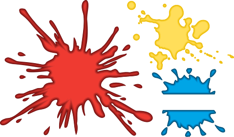 Ironman clipart splatter. Paintball clip art panda