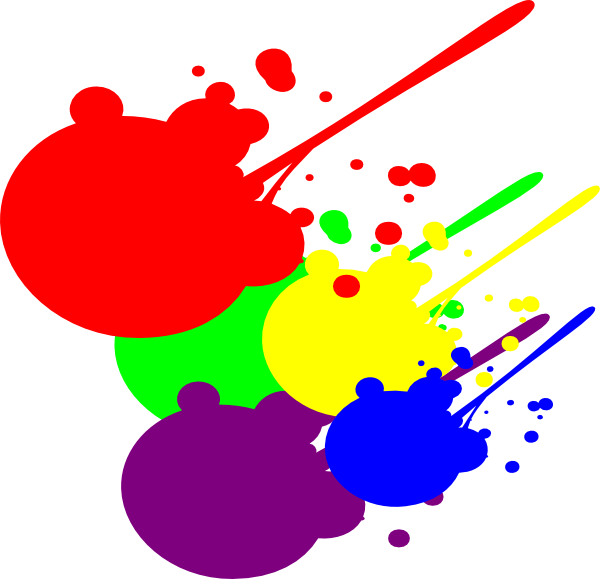 paint clipart burst