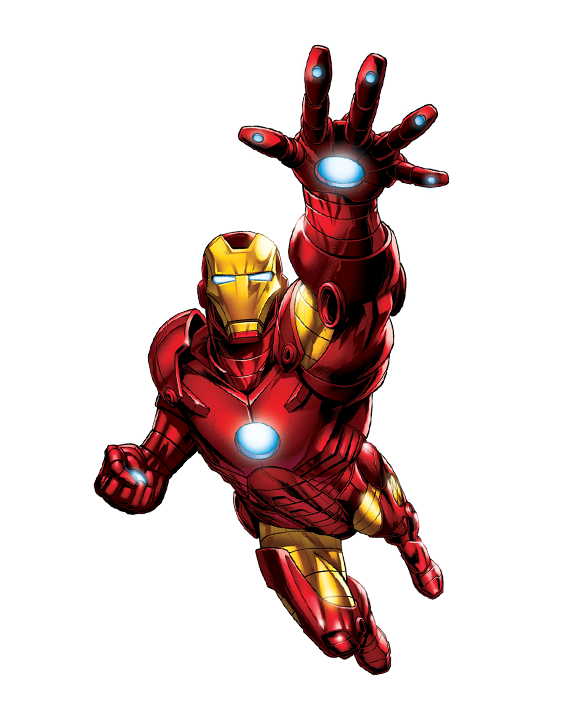 Transparent comic iron man. Ironman flying png image