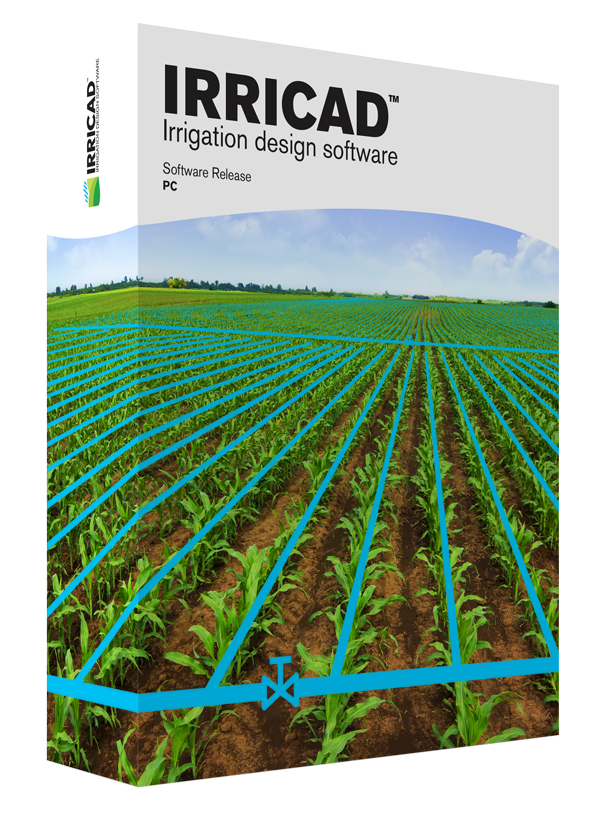 Irrigation drawing lawn diy. Irricad design software box