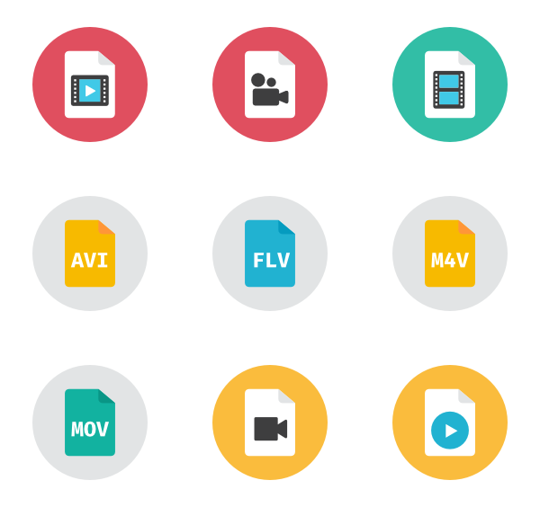Is a png file a vector file. Video icon packs