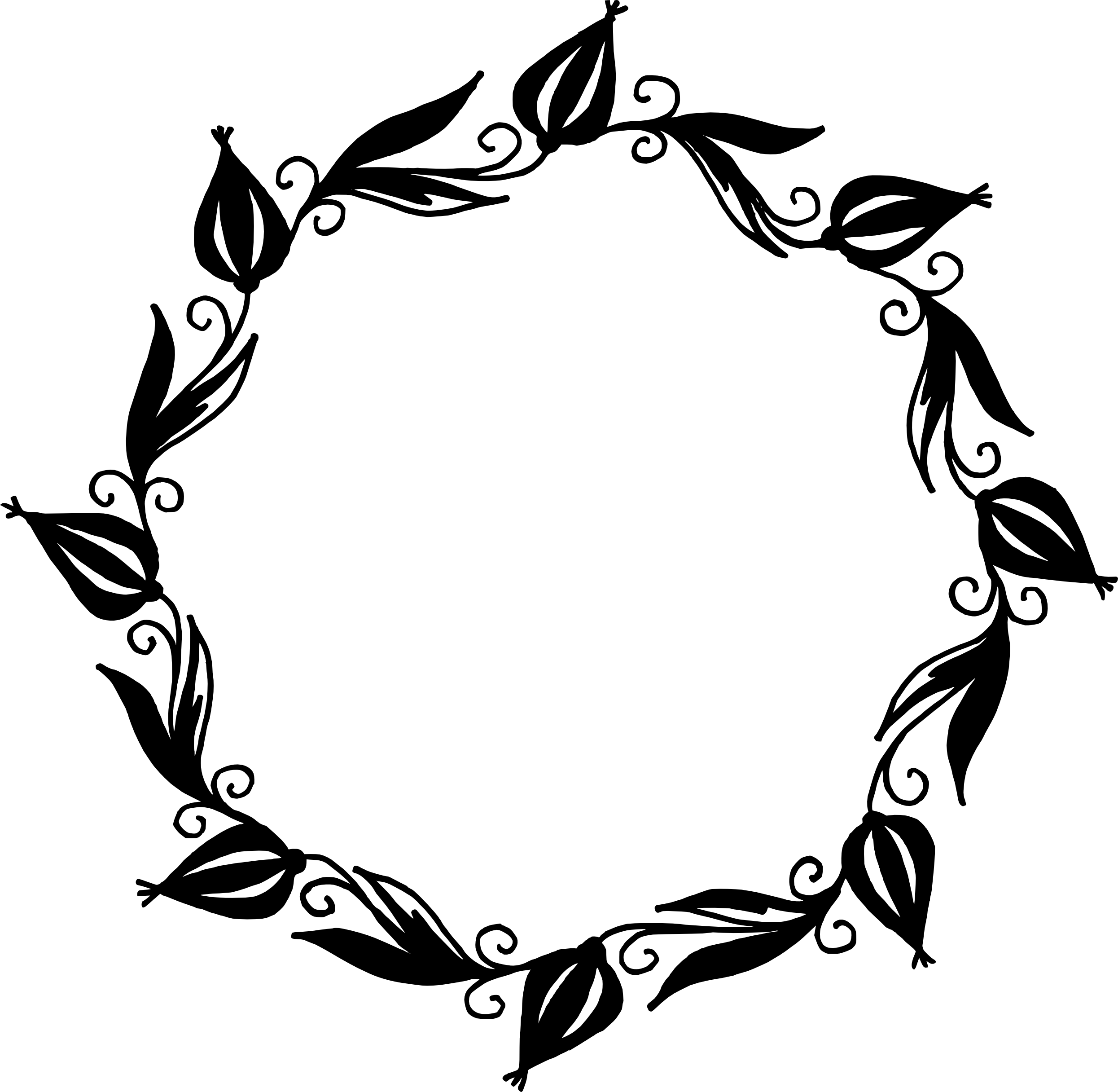 Floral frame png. Circle vector transparent
