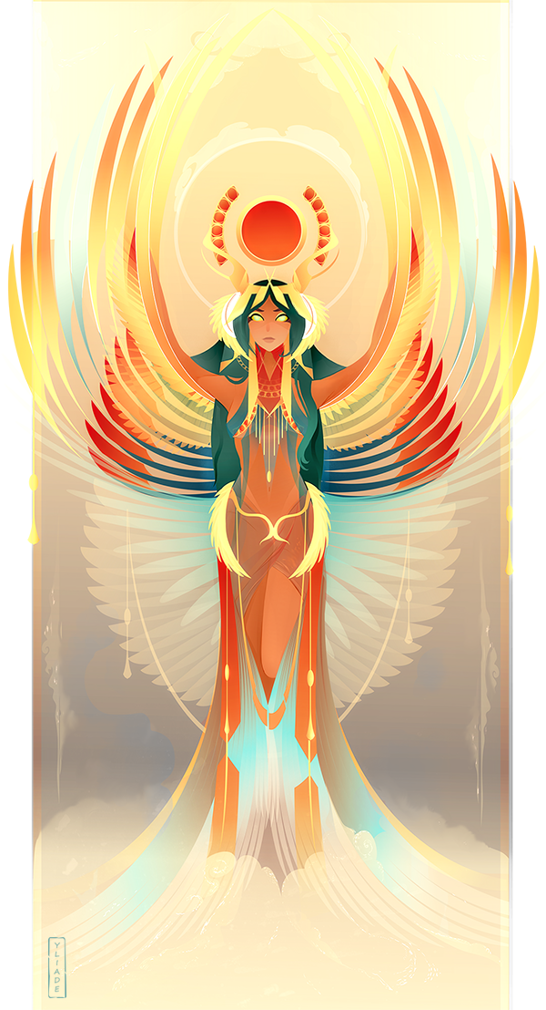 Isis drawing deviantart. Egyptian gods by yliade