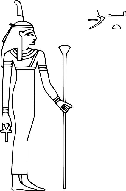 Isis drawing easy. Collection of egyptian
