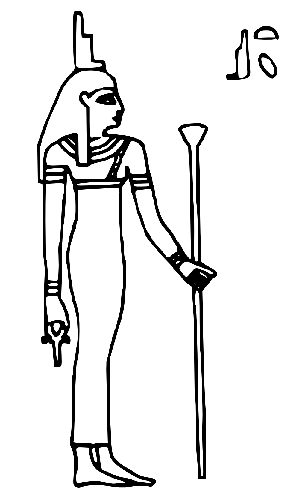 Sekhmet Egyptian goddess & gods Coloring Page | Egyptian goddess ... | 1673x999