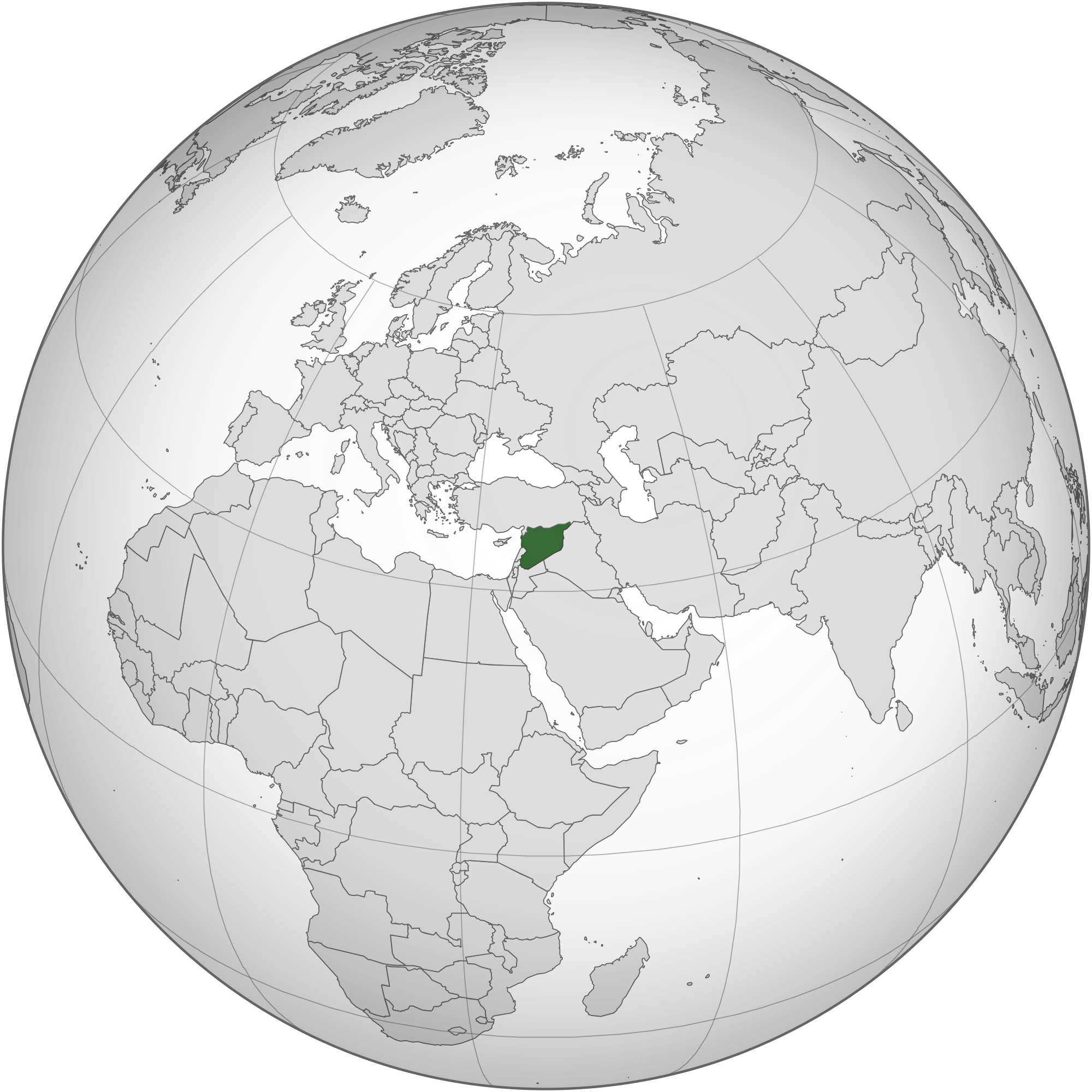 Syria. Wikipedia location of