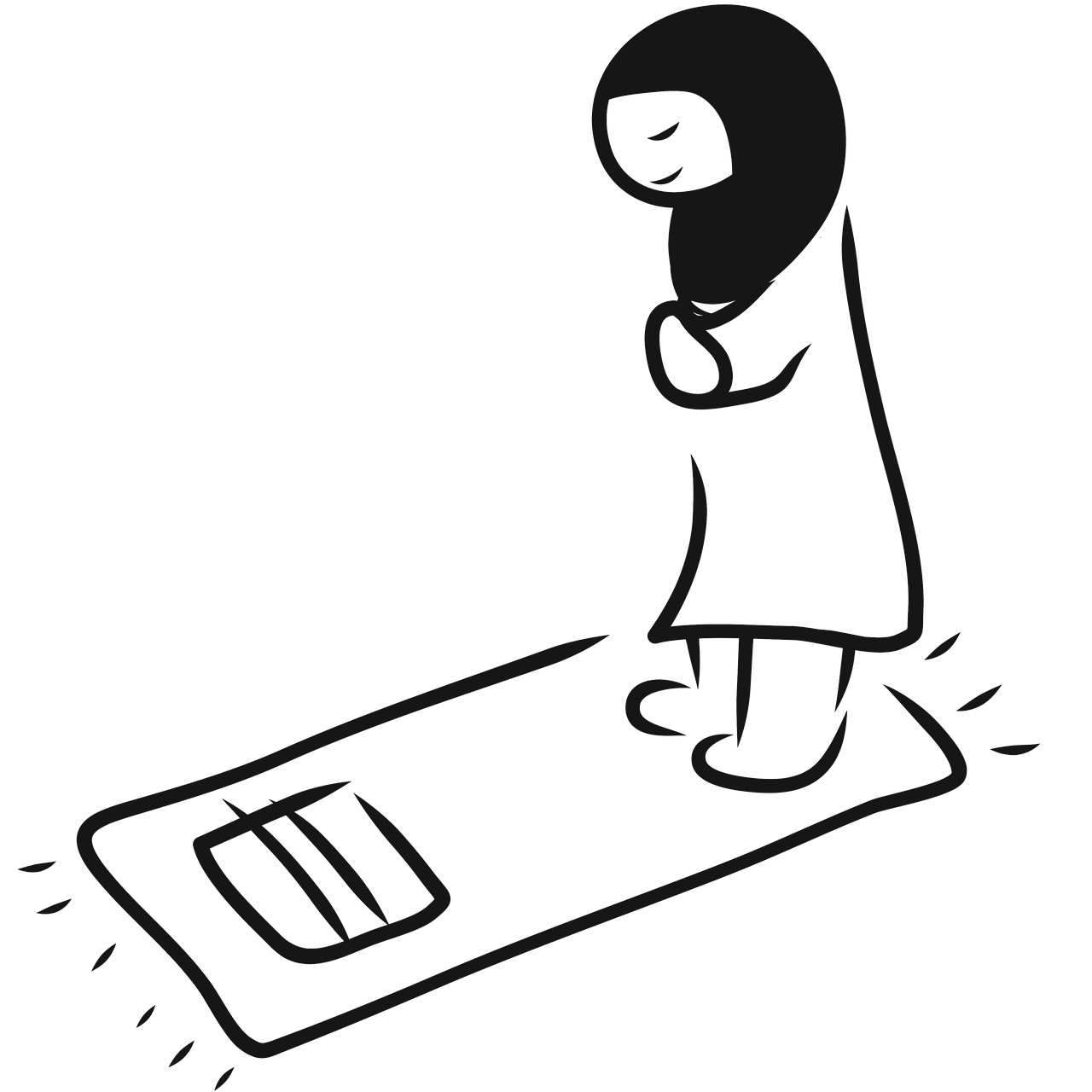 Drawing position praying. Are the prayer positions