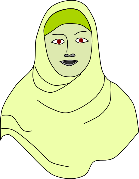 Islam drawing head scarf. Islamic hijab vail headscarf
