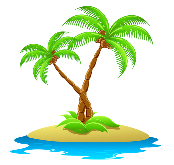 tropical clipart palm tree sunset
