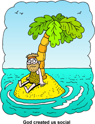 Island clipart deserted island. Image man sitting on