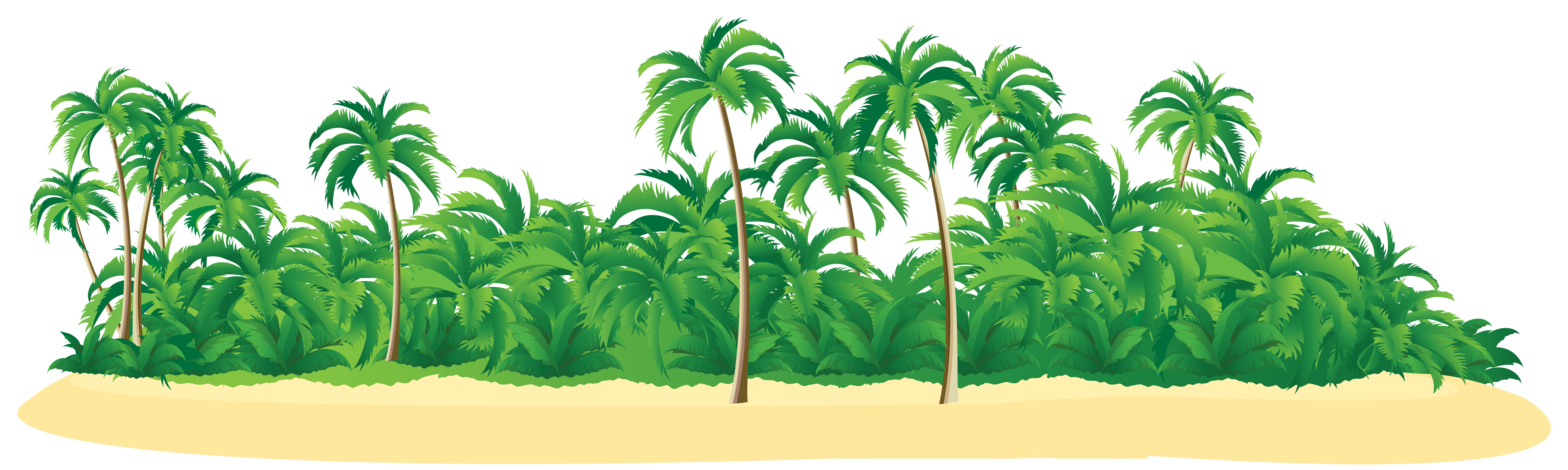 Island clipart tropical island. Summer with palm trees
