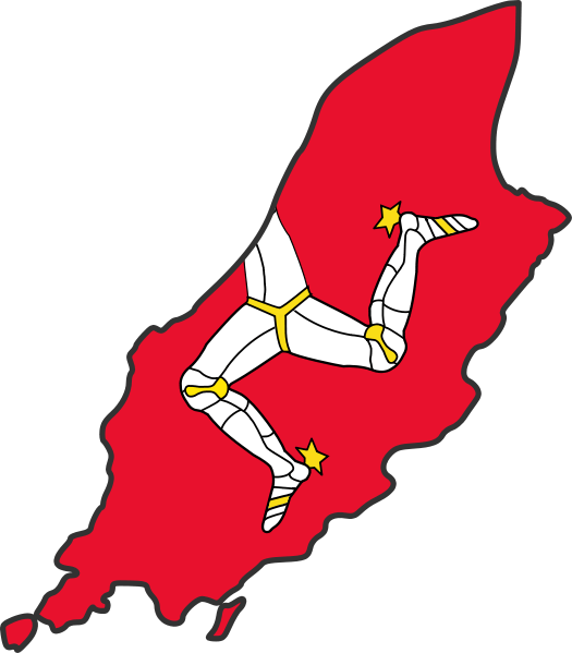 Isle of man arms png. Britlink flag map
