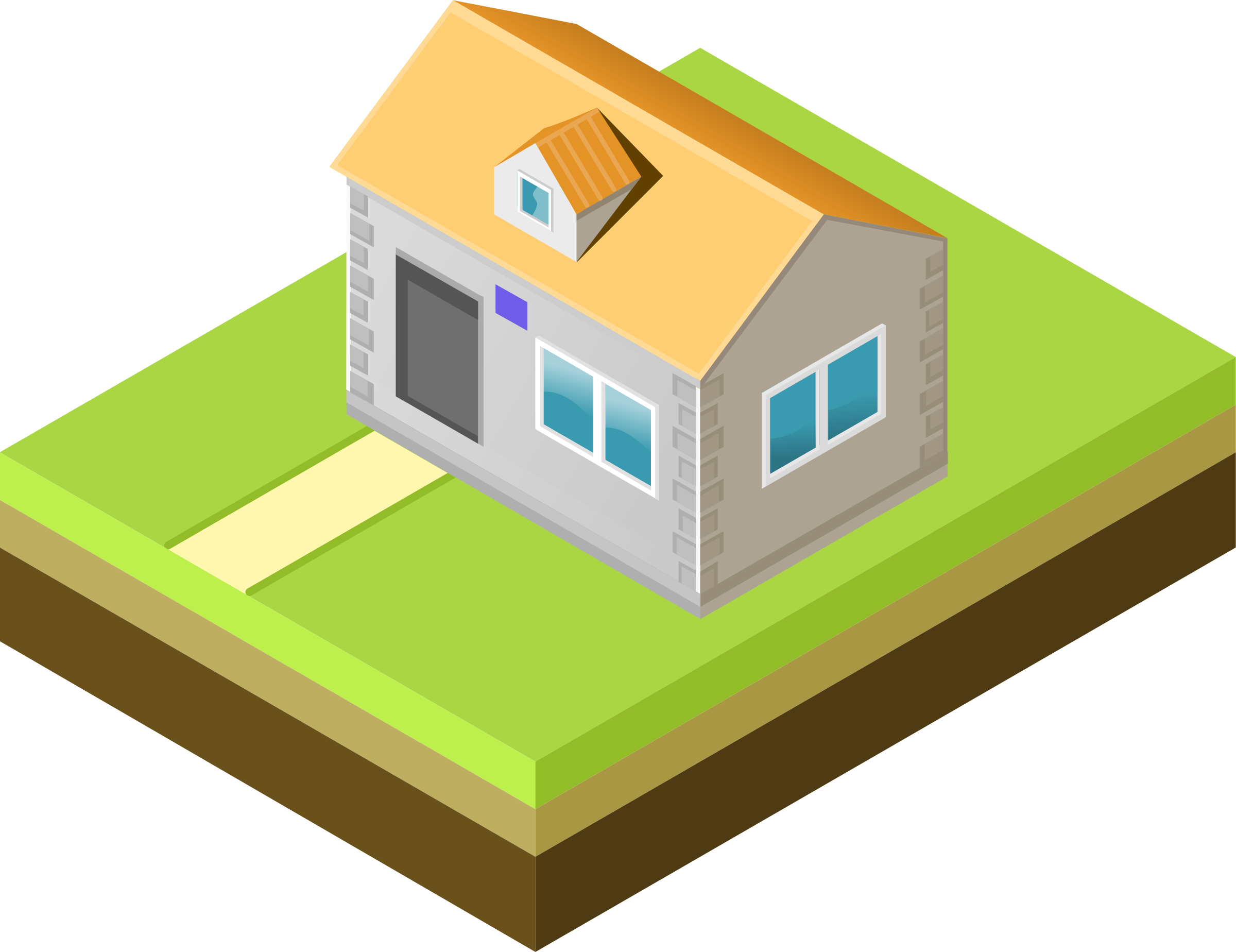 Cottage vector home. Clipart isometric house big