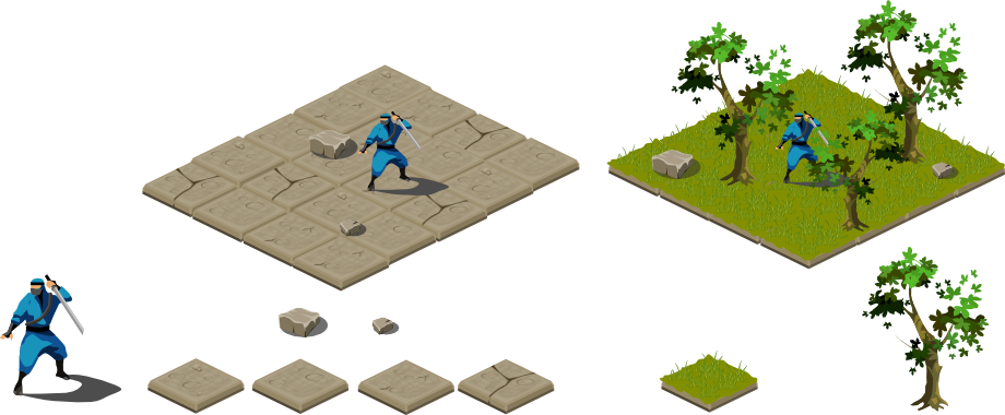Games vector isometric. Tiles by onmioji on