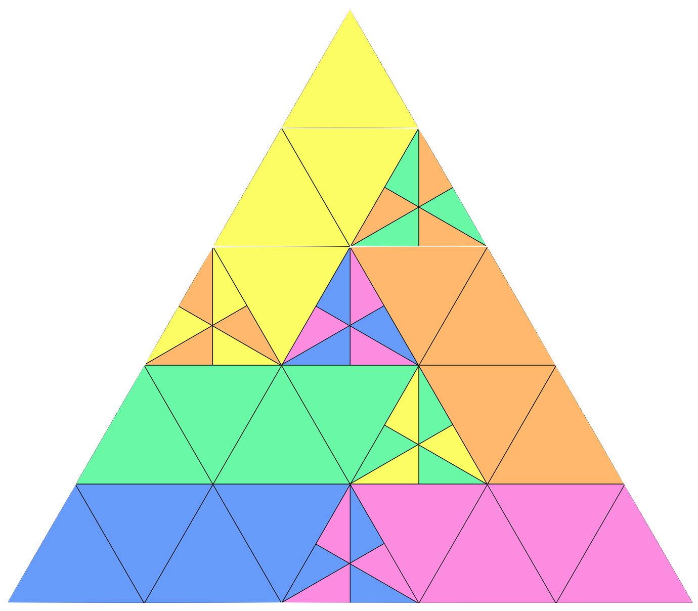 Isosceles triangle in real life nachos png. Geometry dividing an equilateral